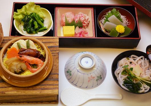 昼食は『春の海鮮釜飯御膳』をご用意♪