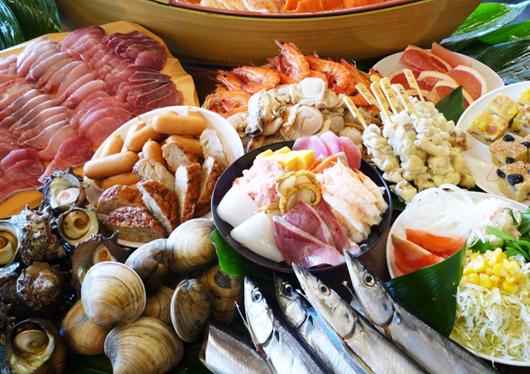 ★海鮮浜焼食べ放題!【牡蠣あります】