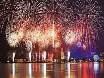 【姪浜、西新、天神 発】<br> ハウステンボス[初開催]夏一番花火大会と[海外代表決定戦]世界花火師競技会
