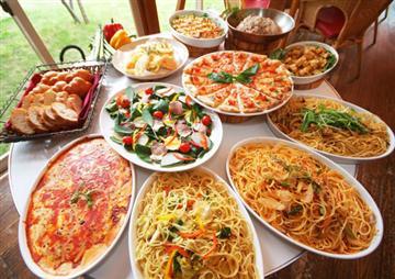 ★果実園の中に佇む隠れ家のようなレストランでイタリアンランチビュッフェを・・・・