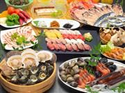 ★昼食は浜焼き&握り寿司食べ放題