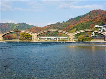 錦帯橋「もみじ舟」と宮島散策