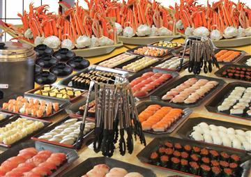 【せんげん台、越谷 発】東京ドイツ村イルミネーションとズワイガニ&寿司10種W食べ放題