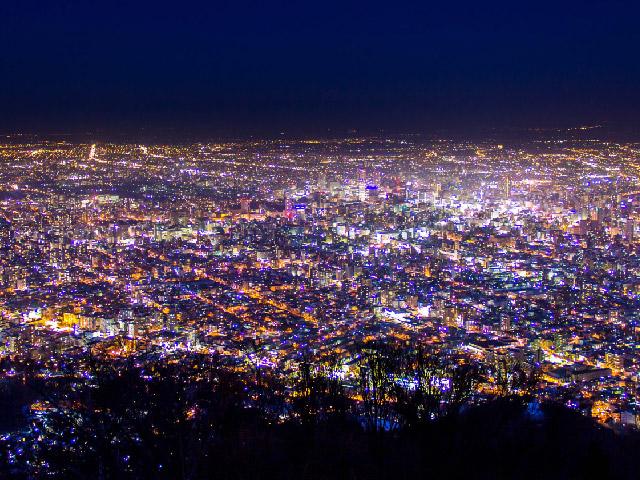 藻岩山の夜景 ※イメージ