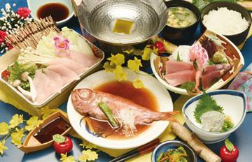 【名古屋・戸田発】金目鯛姿煮と鮪とろしゃぶ御膳&浜岡砂丘カワヅ桜の道