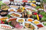昼食ランチブッフェ:ローストビーフも食べ放題の本格派。