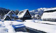 白川郷(2月頃)※気象状況で降雪がない場合がございます。/イメージ