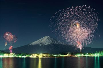【松戸発】富士山パノラマロープウェイからの大展望!冠雪の富士山&河口湖冬花火大会