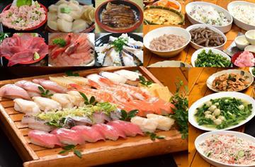 寿司10種と海鮮丼乗っけ盛放題