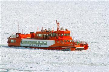 ≪紋別≫流氷砕氷船『ガリンコ号II』乗船体験と昼食はスペシャル流氷丼に舌鼓<1名様より出発>