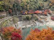 保津峡 嵯峨野トロッコ列車 画像提供:嵯峨野観光鉄道